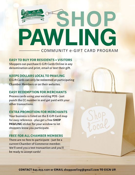 Shop Pawling E-Gift Card Program